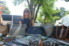 Julie et ses créations de sacs
